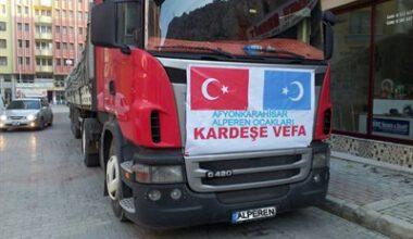 Türkmenler'e yardım elbirliğiyle büyüyor – Kocatepe Gazetesi