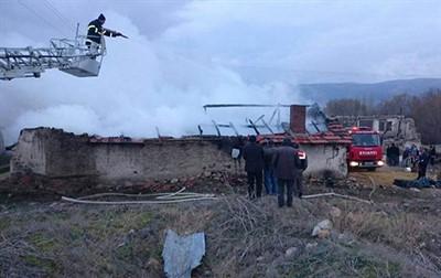Donbay Köyü'nde yangın çıktı