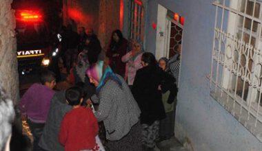 Yangında mahsur kalan çocukları komşular kurtardı