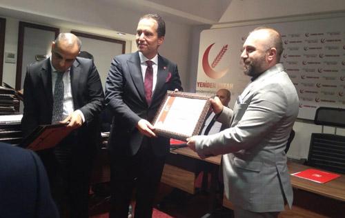Fatih Erbakan Afyon'a teşekkür etti