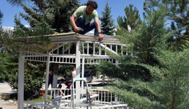 İscehisar'da parklar yenileniyor