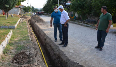 Bozkurt, doğalgaz  çalışmalarını inceledi