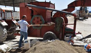Dazkırı Belediyesi nohut hasadını bitirdi