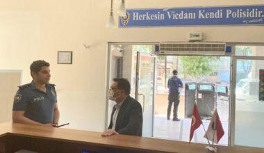 Vali Çiçek'ten, polis merkezine ziyaret