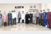 AFSÜ'de kemik iliği nakli yapılan hasta alkışlarla taburcu edildi