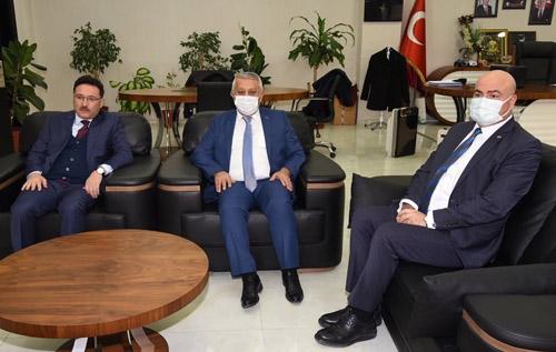 Vali Çiçek ve Başkan Zeybek'ten YÜNTAŞ'a ziyaret