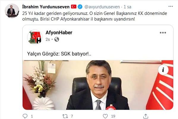 """Birisi, CHP İl Başkanı'nı uyandırsın"""