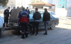 Araç yandı sanıp itfaiye çağırdılar