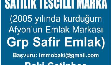 SATILIK TESCİLLİ MARKA