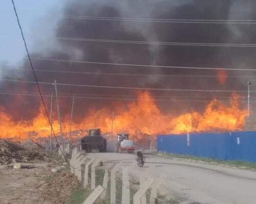 Enerji santralinde korkutan yangın