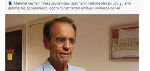 Milletvekili Ali Özkaya'dan  Prof. Dr. Mehmet Ceyhan'a tepki