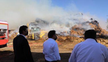 Pelet yakıtı üretilen tesiste yangın çıktı