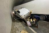 Karahisar Tüneli'nde facianın eşiğinden dönüldü