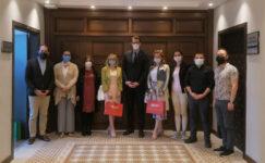 Ukrayna'lı akademisyenler AFSÜ'lü yetkililerle görüştü