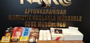 Afyonkarahisar polisi  uyuşturucuya geçit vermiyor