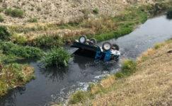 Tarım aracı devrildi:  1 ölü, 1 yaralı