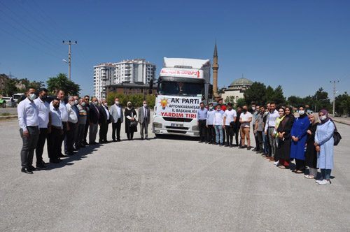 AK Parti İl Başkanlığı, yangın mağdurlarının yanında