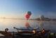 Afyon'da binden fazla turist sıcak hava balonu deneyimi yaşadı