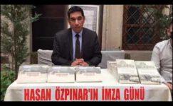 Özpınar Taşhan'da kitaplarını imzaladı
